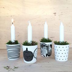 Diy Christmas candles. Marimekko. Nordic living. Finnish home. Adventsljus. By Johanna Sandberg.