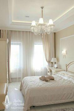 Master Bedroom Interior, Dream Bedroom, Room Decor Bedroom, Home Bedroom, Home Living Room, Modern Bedroom, White Room Decor, Plafond Design, Luxurious Bedrooms