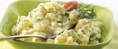 Snips of fresh dill and green onion slices add color and flavor to this perfect potato salad.