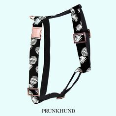 Nicest dog harness ever! The PINEAPPLE harness with ROSE GOLD hardware. Get it on www.prunkhund.com
