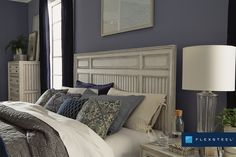 Shiplap accents make Harmony shine. #FlexsteelFurniture #ThisIsHowWeDwell #BuiltToLast #BedroomDesign #Bedroom #BedroomInspiration #BedroomStyling Furniture Wax, Leather Furniture, Online Furniture, Furniture Design, King Storage Bed, Exposed Wood, Bedroom Inspiration, Fresh, Interior Design