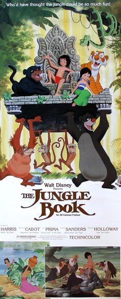 An original rolled insert movie poster for The Jungle Book . Original Film Art offers free US shipping & low international shipping. Disney Movie Posters, Disney Films, Disney Videos, Disney Art, First Animation, Walt Disney Animation, Jim Henson, 1984 Movie, Disney Presents
