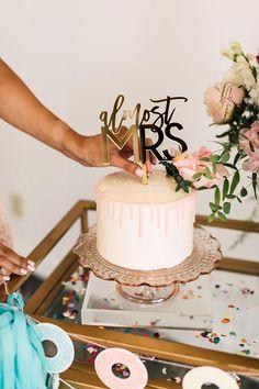 Almost Mrs. Laser Cut Bridal Shower Cake Topper ONE