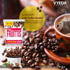 Did u know? Coffeebean gives radiant glowing skin!  #coffeebean #scrub #sheabutter #skincare #facecare #freshlook #LoveyourskinLoveHerbals #facecare Order Now! http://www.vyedaherbals.com/ or Mail us dawinder@vyedaherbals.com