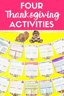 These four fun Thanksgiving reading and writing activities for your middle school and high school students are the perfect way to kick off the thanksgiving season in your classroom!