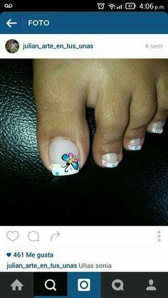Pedicure Designs, Pedicure Nail Art, Toe Nail Designs, Nail Polish Designs, Toe Nail Art, Hair And Nails, My Nails, Cute Toe Nails, Nail Effects