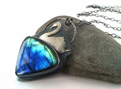 Labradorite and Sterling Silver Necklace  by PurpleBlossomStudio, $215.00