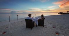 Romantic Dinner at 5 star hotel: Velassaru Maldives Resort. This hotel's address is: Velassaru Island South Male Atoll Maldives Islands and have 129 rooms Maldives Vacation Packages, Maldives Luxury Resorts, Maldives Resort, Hotels And Resorts, Romantic Dinners, 5 Star Hotels, How To Memorize Things, Sunset, Beach