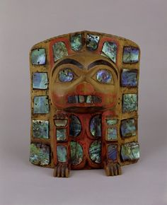 Head dress frontlet - ARTWORLD - VADS: the online resource for visual arts Pacific Coast, Pacific Northwest, West Coast, Native Art, Native American Art, Tlingit, Indigenous Art, Abalone Shell, Totems