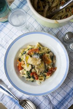 Creamy Chicken & Spinach Pasta | DonalSkehan.com, Perfect midweek dinner that all the family will love!
