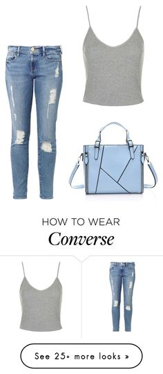 """""""Add converse"""" by sunshine1877 on Polyvore featuring Frame Denim, Topshop, women's clothing, women, female, woman, misses and juniors"""