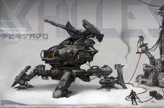 Achilles the Mech walker by ~Rossipoo on deviantART