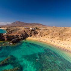Playa de #Papagayos en #Lanzarote - #islasCanarias