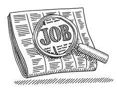 Newspaper Job Loupe Drawing