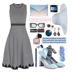 """Gingham Dress"" by simpleautumn ❤ liked on Polyvore featuring Alexander Wang, Miu Miu, In Your Dreams, Rebecca Minkoff, Heting, Victoria's Secret, Christian Dior and Gucci"