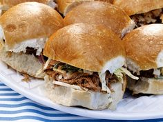pulled pork bbq sandwiches    http://www.foodnetwork.com/recipes/sunny-anderson/pulled-pork-sandwiches-recipe/index.html