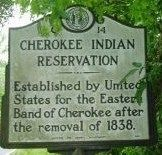 Cherokee Indian Reservation / (Leaving) Cherokee Reservation Marker