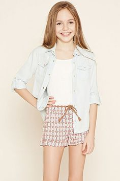 Girls Geo Print Shorts (Kids)