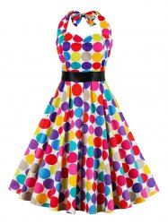 SHARE & Get it FREE | Retro Halter Sweetheart Neck Polk Dot Colorful DressFor Fashion Lovers only:80,000+ Items • New Arrivals Daily • Affordable Casual to Chic for Every Occasion Join Sammydress: Get YOUR $50 NOW!