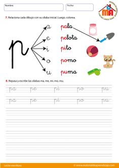 Circus Carnival Party, Small Wonder, Bilingual Education, French Lessons, Cursive, Learning Spanish, Phonics, Teaching Kids, Worksheets