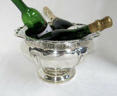 Antique English Sterling Silver Bowl / Centerpiece / Champagne or Wine Cooler. #RobertsBelk