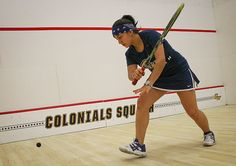 "GW Women's Squash Anna Porras is originally from Bogota, Colombia, which is known as the ""Athens of South America"" due to it's extensive universities and libraries"
