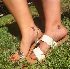 Matching bestie pineapple tattoos