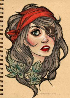 tattoo portrait by JACKIEthePIRATE.deviantart.com