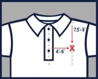 "Golf shirt with 7.5""-9"" and 4""-6"""