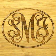 Personalized Cutting Board - Bamboo Wood - 12 x 9 - Wedding Gift