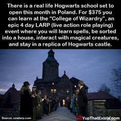 There is a real life Hogwarts opening this month in Poland…
