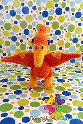 Introducing SnuggleMe Pterodactyl! The prehistoric inspired collection just wouldn't be complete without him! SnuggleMe Pterodactyl is approx. 8 inches tall with a 10.5 inch wingspan making him perfect for snuggles and soaring the skies!
