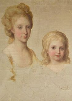 """tiny-librarian: """"Preparatory drawings done by artist Angelica Kauffman for a portrait of Maria Carolina of Austria, with her husband Ferdinand IV and their children. On top are daughters Maria Theresa. My Maria, Maria Theresa, Angelica Kauffmann, Franz Josef I, Two Sicilies, Francis I, Creative Colour, Ferdinand, Louis Xvi"""