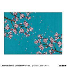 Cherry Blossom Branches Custom Glass Cutting Board