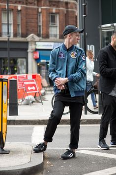 """London Collections Men S/S '16 street style - GQ.co.uk"" Nice street look 👍🔥na"