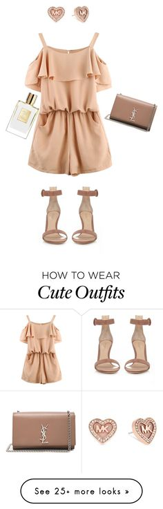 """Date outfit idea"" by maggiegarrett on Polyvore featuring Michael Kors, Gianvito Rossi and Yves Saint Laurent"