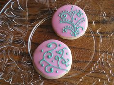 scroll work cookies