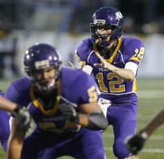 Jackson quarterback Tyler Langenfeld (12) completed 21 of 33 passes for a total of 229 yards against GlenOak in week five of the 2012 high school football season. He also picked up 37 rushing yards on 6 carries.
