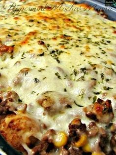 Cowboy Lasagna. Add a packet of dried onion soup mix and stir it into the ground meat along with the other spices & flavorings; let the flavors blend for a couple hours before cooking the meat mixture.