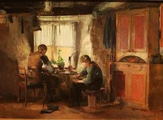 Country Cobblers, by Harriet Backer, Norwegian pioneer among female artists in the Nordic countries and Europe. She was also popular during her lifetime. Backer was known for her. Lund, Fine Art Prints, Canvas Prints, Modern Artists, National Museum, Art Reproductions, Art Museum, Poster Prints, A4 Poster