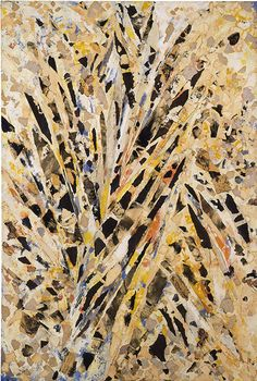 Lee Krasner, Burning Candles, 1955, Oil, paper, and canvas on linen
