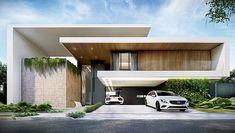 Lima Arquitetos | Conheça nossos projetos de casas modernas Modern Villa Design, Modern Exterior House Designs, Dream House Exterior, Modern House Facades, Modern Architecture House, Architecture Building Design, Facade Design, Bungalow House Design, House Front Design