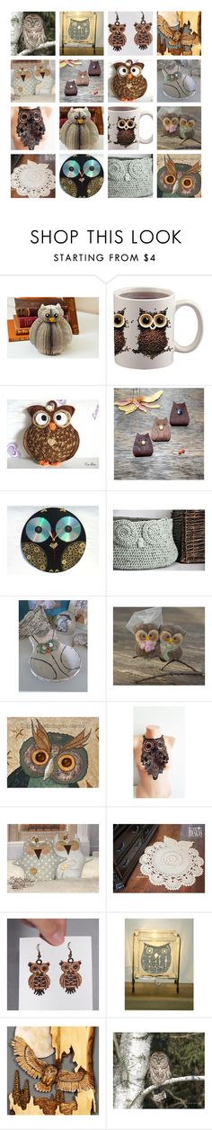 """""""Owl always Love you"""" by andreadawn1 ❤ liked on Polyvore featuring owl, etsy and handmade"""
