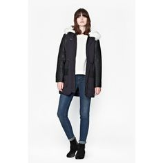 French connection rhumba faux fur parka coat
