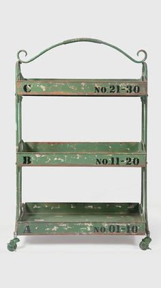 Green Vintage Seed Shelf