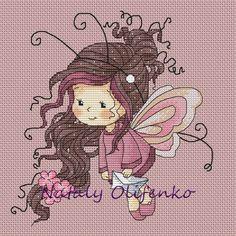 Bonito gráfico de una niña mariposa...