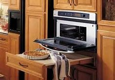 Design for Aging in Place - Bing Images.   Wall oven with pull out shelf convenient for sitting hot things.