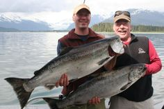 Lee Leschper, and his son, Will - Father's Day Fishing- Alaska Magazine