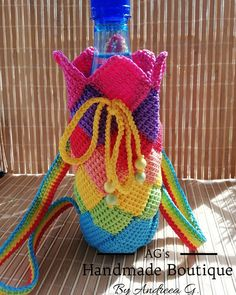 #handmade #crochet #mini #backpack #babies #children #waterkeeper #multicolor #rainbow #sunny #times #spring #crochetaddiction… Mini Backpack, Rainbow, Babies, Times, Boutique, Christmas Ornaments, Holiday Decor, Children, Spring
