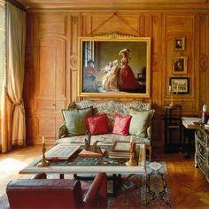 Eighteenth-century oak boiserie from a French château, reinstalled in a Paris apartment   Robert Polidori photo - AD